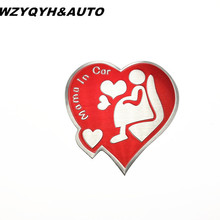 New 3D Aluminum mother mama car stickers ford focus cruze rio skoda octavia mazda opel vw audi accessories - WZYQYH&AUTO YINXIN Store store