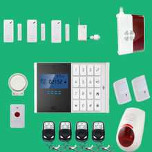 English, Spanish,French,Italian Voice Wireless&wired GSM Home Security Fire Alarm System+ 2 pet PIR Sensor+ 3door Sensor