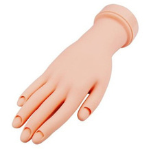 DIY Movable Soft Practice Leaning Hand for Nail Art Training Tips(China)