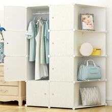 Hot DIY Closet Magic Piece Plastic Wardrobe Storage Cabinets Simple Wardrobe Assembly Wardrobe Bedroom Furniture Closet