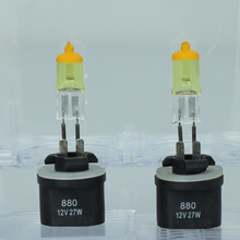 Buy 2x880 H27W/1 12V 3000K 55W Golden Yellow Auto Car HOD Halogen Bulbs Xenon Lamps Ultra Upgrade for $9.61 in AliExpress store