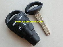 1pcs Fit For Saab 9-3 93 2003-2007 Remote Key Shell Case Fob 4 Button With Insert Blade