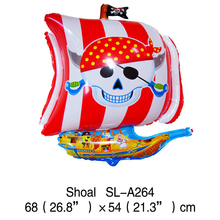 Retail 1pc/bag 54*68cm Irregular Corsair Balloon Sea Rover Balloon Pirate Ship Balloon Foil Balloon for Party Layout Decoration