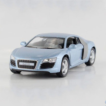 1:36 Scale KINSMART Miniature Model Car Toy, Simulation Die cast & ABS R8 Cars For Collection, Kids Toys, Juguetes Vehicle