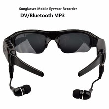480P Digital Sunglasses Mini Camera Bluetooth MP3 Player DV DVR Sport Recorder Camcorder Cam for Sport Driving Outdoor(China)