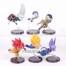 Dragon Ball Z The Historical Characters Vol.1 Whis Beerus Goku Black Vegeta Frieza PVC Figures Collectible Model Toys 6pcs/set(China)