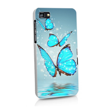 blue butterfly Cases Hard PC Back Cover Phone Case For Blackberry Z10 Z30 Q20 Q10 Q30 Passport Silver Edit Q5 phone case