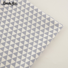 Booksew Gray Triangle Design Cotton Twill Fabric Material Soft Cloth Bed Sheet Home Textile Sewing Patchwork High quality Tissue(China)