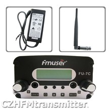10pcs/lot FU-7C 5W 7w FM stereo PLL broadcast transmitter hot sale 76-108MHZ+rubber antnena kit(China)