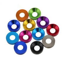 6pcs five colors to choose Anodized Aluminium M3 Countersink Finish Washer For 1:10 RC Car HSP Free Shipping