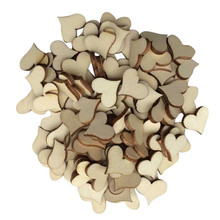 100pcs Rustic Wood Wooden Love Heart Wedding Table Scatter Decoration Crafts DIY decorative Party supplies Levert Dropship(China)