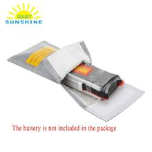 20 * 10cm Battery Safety Bag High Quality Glass Fiber RC LiPo Battery Safety Bag Safe Guard Charge Sack for Battery Parts(China)