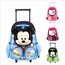 New hello kitty backpack children school bags mochila infantil bolsas trolley bags  2-6 years old kid bag detachable &88089