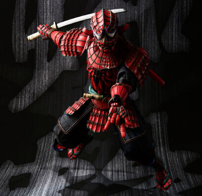 NEW hot 18cm ninja samurai spider-man Action figure toys doll Spiderman Christmas gift<br>
