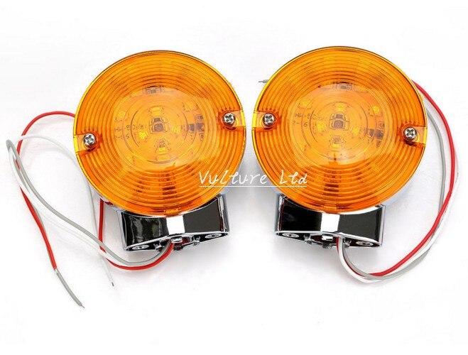 2xFront LED Flat Lens Turn Signal Light Blinker For Harley Electra Glide Touring<br><br>Aliexpress
