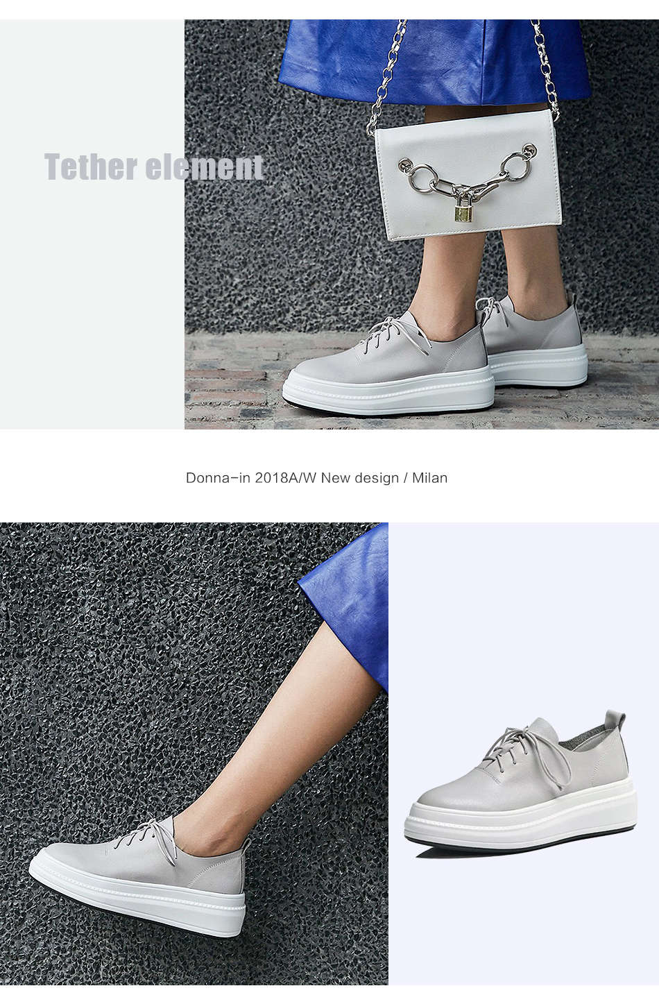 Donna-in Women Flats Shoes Platform Sneakers Shoes Genuine Leather Spring Fashion Sneakers Creepers Lace-up Comfortable Shoes (9)