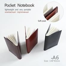 Pocket notebooks A6 to do list planners notepad Lined pages Plain paper linepages diary journal Stationery office supplies(China)