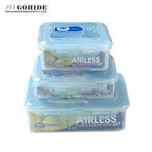 Gohide Vacuum Storage Box Piece Set Rectangle Plastic Storage Box Set Sealed Box Piece Set Color Box Microwavable Food Container