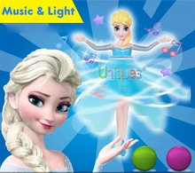 Flying Dolls Elsa Anna Music Light Hovering Flying Fairy Angel Princess RC Remote Control Toys Best Gift for Girl Toys