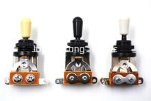 Niko Black Plated 3 Way Selector LP Electric Guitar Pickup Switches Guitar Toggle Lever Cream/Black/White