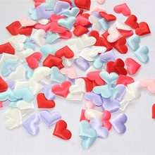 3.5*3.5cm 100pcs Wedding Throwing Petals Marriage Bed Marriage Room Decorate Adornment Decorates Wedding Heart Flower