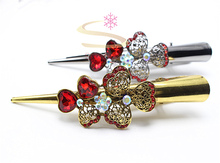 1pc Fashion Hairwear Clover  Rhinestone Headband  Vintage Hair Pin Women Hair Clip Hair Jewelry Plant Accessories 1648-2