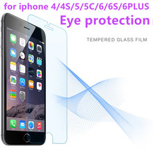 GULYNN Eye protection For iPhone X Tempered Glass  Screen Protector Case Cover For iPhone 8 7 6S 5S SE 4 4S 2.5D Protective Film