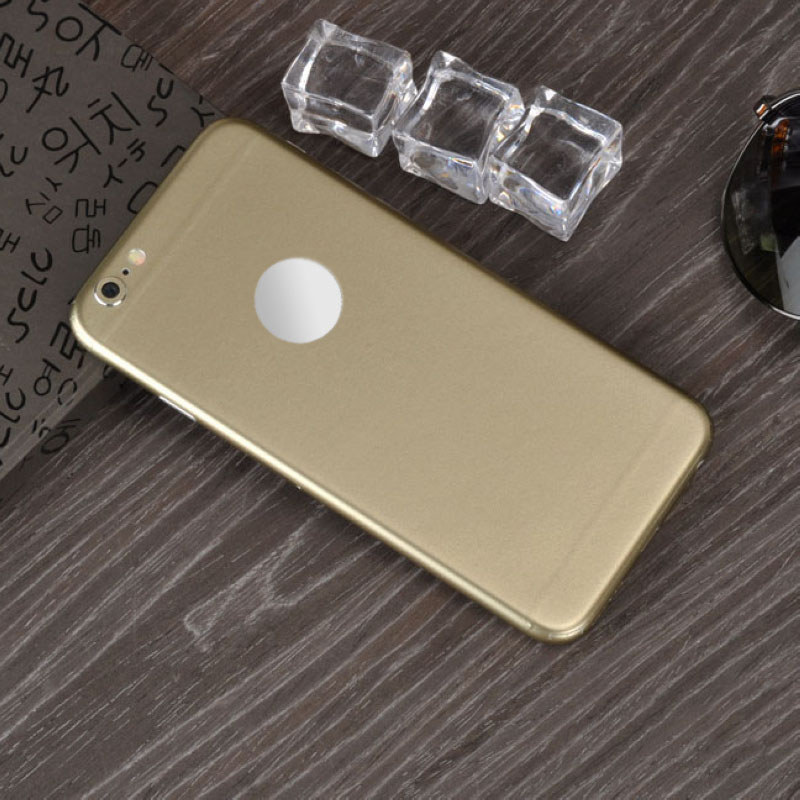 Luxury Film Wrap Decal Skin Case Cover PVC Sticker For iPhone 6 6S 7 8 Plus X Red/Gold/Blue/Black/Purple/Green/Orange/Rose Red