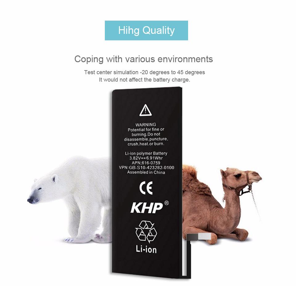 NEW 2017 100% Original KHP Phone Battery For iPhone 6 Capacity 1810mAh Repair Tools 0 Cycle Replacement Mobile Batteries Sticker (12)