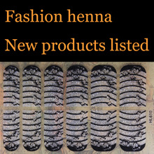 Heart pattern silver flash powder finger henna Nail Art Stickers Mixed Designs Watermark nails tips Decals Wraps Nail Art Tools(China)