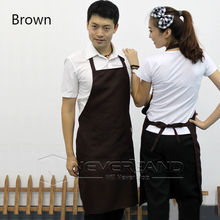 Men's Chefs Apron Simple Elegant Butchers Kitchen Cooks Restaurant BBQ School Double POCKETS Cooking Clean kitchen Couples Apron