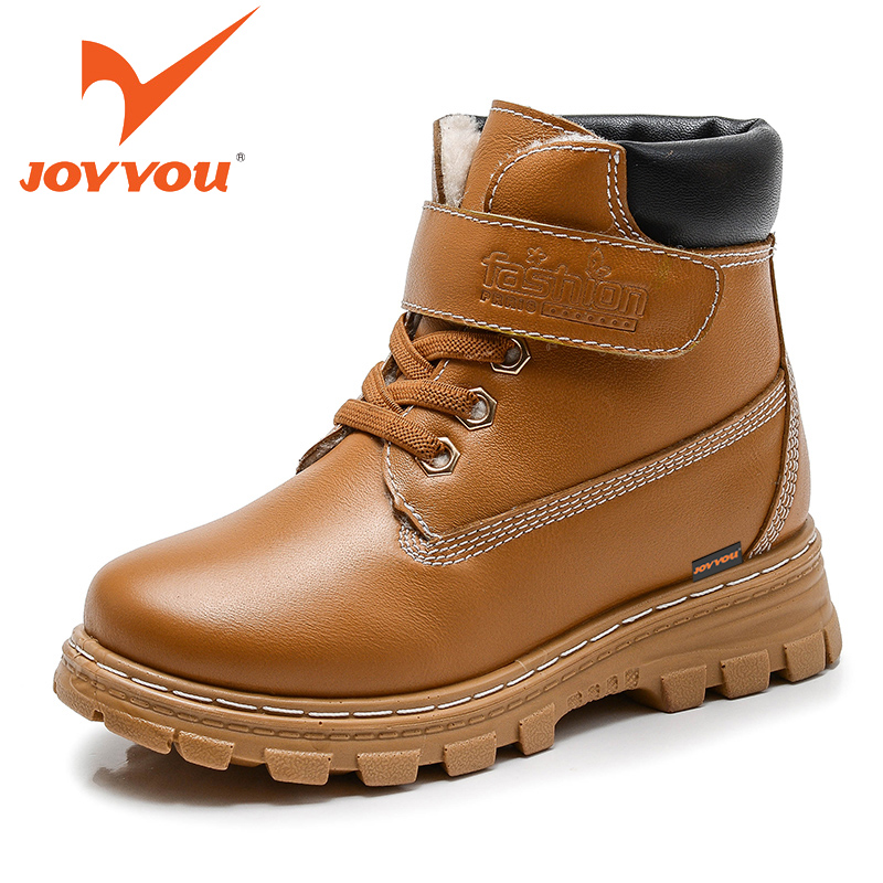 JOYYOU Brand Boy Girl Winter Ankle Martin Boots Size26-37 Kids Warm School Shoes Children Fashion Footwear Fashion Leisure Shoes<br>