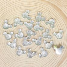 100 Pieces Flatback Flat Back Resin Cabochon Kawaii DIY Cartoon Mouse Resin Craft Decoration Scrapbooking Embellishment:12*15mm