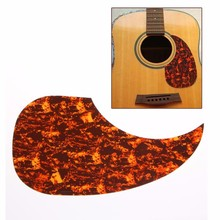 Hot Sell 41'' Pickguard Scratch Plate For Acoustic Guitar Self Adhesive Red Background