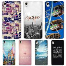 Travel world hard Transparent Case Cover Coque Sony Xperia z1 z2 z3 z4 z5 m4 aqua m5 XA XZ C4 E4 E5 C5 - Alvis Mingo Store store