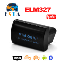 Buy 5PCS DHL Free Super Mini OBDII OBD2 Bluetooth MINI ELM327 Bluetooth Code Scanner Android Windows stock for $25.00 in AliExpress store