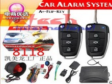 by dhl or ems 10pcs keyless 1-Way Car Alarm Vehicle System Security System Keyless Entry Siren +2Remote Control Burglar hot sale(China)