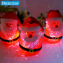 LED colorful santa claus christmas ornament Navidad Decoration Gift Natal xmas decoration for home market new year