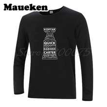 Men 2014 Stanley Cup Champions all Player Anze Kopitar Quick Kings Martinez Carter Clifford Gaborik Brown T-Shirt Long Sleeve(China)
