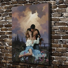 A2274 Sexy Naked Man Woman Kiss Figures Scenery.HD Canvas Print Home decoration Living Room bedroom Wall pictures Art painting