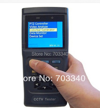 CCTV tester monitor analog  cvbs tester PTZ control video and cable testing 12V output led light 2.8 inch