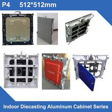 P4 indoor 512mm*512mm Diecasting Aluminum Profile Empty Cabinet panel for led display video led screen advertising
