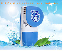 USB mini fan Cute air conditioning refrigeration student portable bladeless fan small charge(China)