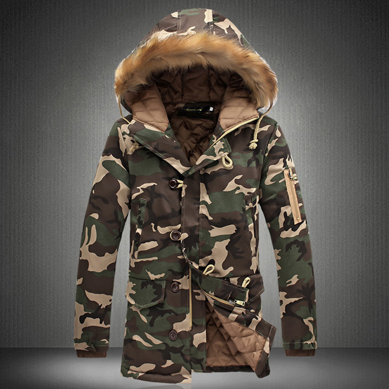 972c8fdd4bd 2019 Wholesale 2017 Winter Plus Size Mens Camouflage Down Jacket ...