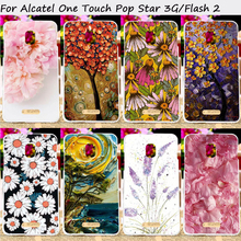 Hard Plastic Mobile Phone Cases For Alcatel OneTouch Pop Star 3G 5022 Flash 2 7049D OT-7049D OT5022 5022X 5022D Cover Bags Skins