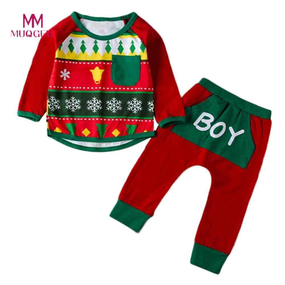 042a38b1e 2018 Brand New Fashion Kids Clothes Winter Long Sleeve O-neck Baby Christma  Print T