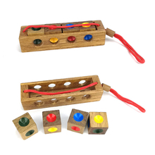 Wooden Puzzle Toy Funny Kong Ming Lock Unlock Puzzle Key Classical Intellectual Educational For Children Adult(China)
