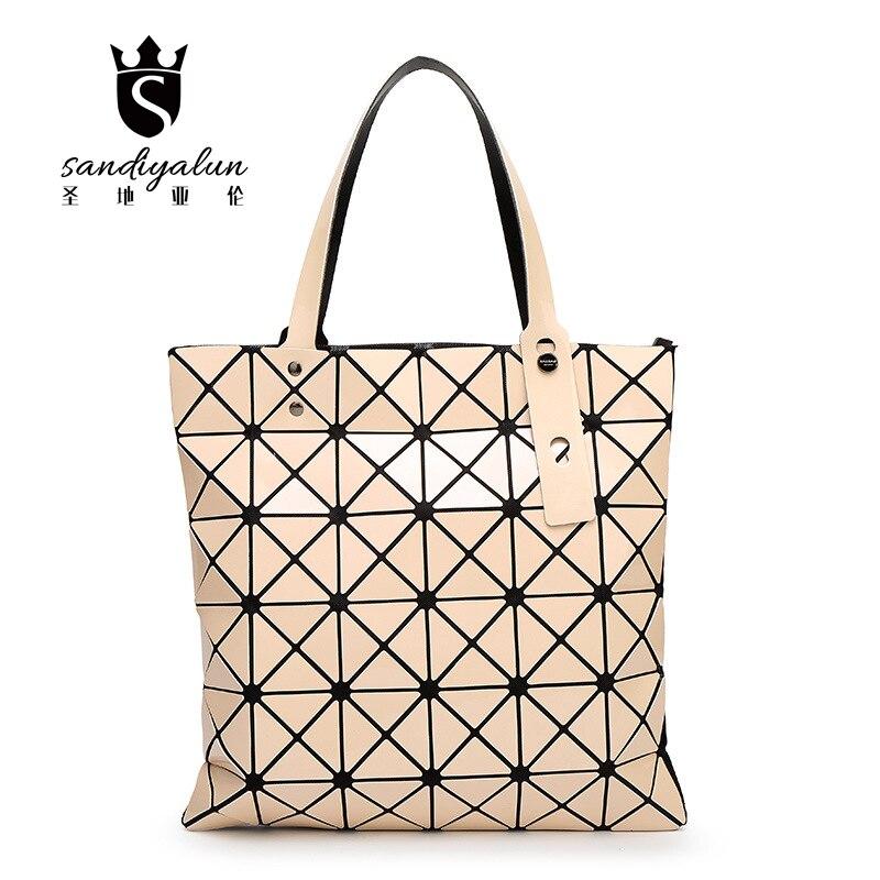 2017 New Diamond Lattice PU Women Bag Geometric Mosaic Sequins Mirror Laser Folding Bag Janpan Style Shoulder Bag Casual Handbag<br><br>Aliexpress