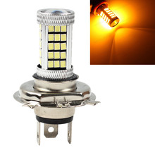 Fog Light Car Vehicle Auto H4 HB2 2835 63 SMD High Low Beam Amber Orange Bulb Lamp For DRL 12V 9003 Bright Than 33 SMD