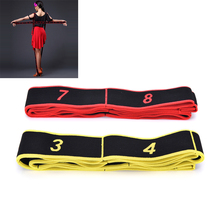 Kids Adult Latin Bands expander Pilates Yoga Stretch Resistance Bands Fitness Elastic Crossfit dance training bands gymnastics